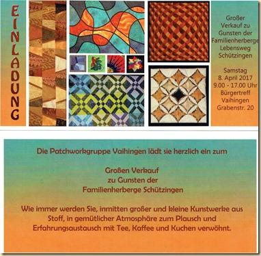 VErkauf Patchworkgruppe Vaihingen-Enz
