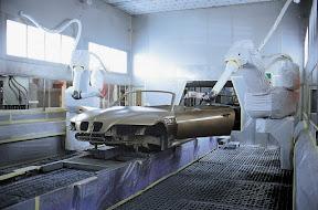 BMW Z3 on production line