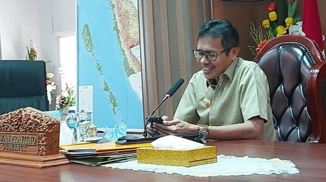 Foto: Irwan Prayitno. Sumbar Saat ini Sudah Masuk Tahap Pemulihan Ekonomi Produktif dan Aman Covid.