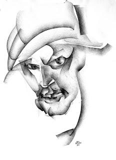 """Junus Karimow (www.junuskarimow.de): Illustration für Norman Liebolds (www.norman-liebold.de) 'Euthanatus"""", Graphit auf Papier 2010."""
