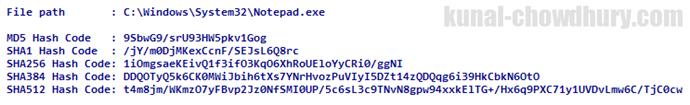 How to generate HashCode of File (www.kunal-chowdhury.com)
