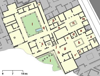 House of the Geometric Mosaics AD79eruption