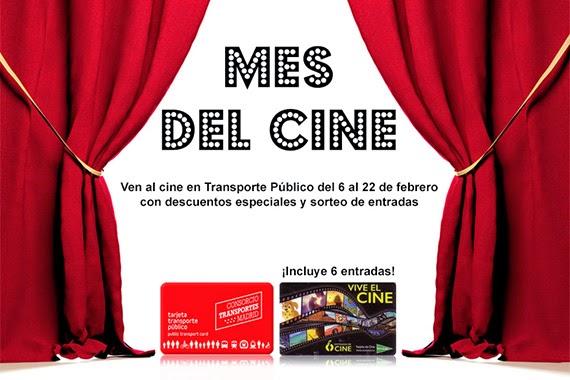 En febrero, disfruta del mejor cine con la Tarjeta de Transporte Público