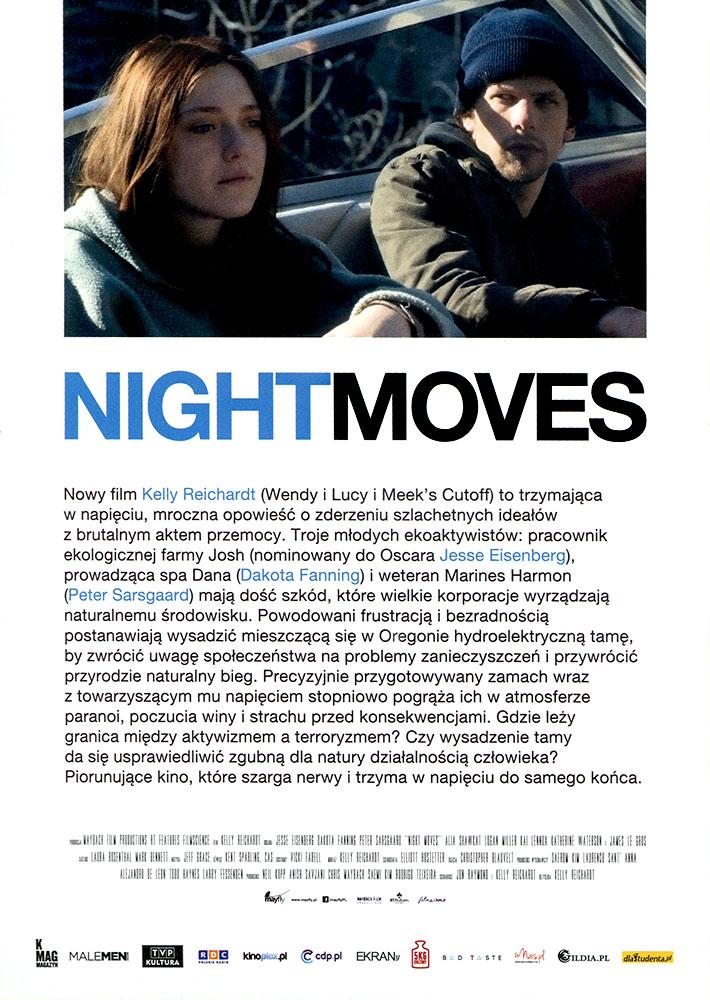 Ulotka filmu 'Night Moves (tył)'
