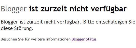 Blogger Ausfall Mai 2011