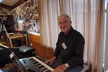 President, Gordon Sutherland, playing his Korg Pa4X. Photo courtesy of Dennis Lyons.