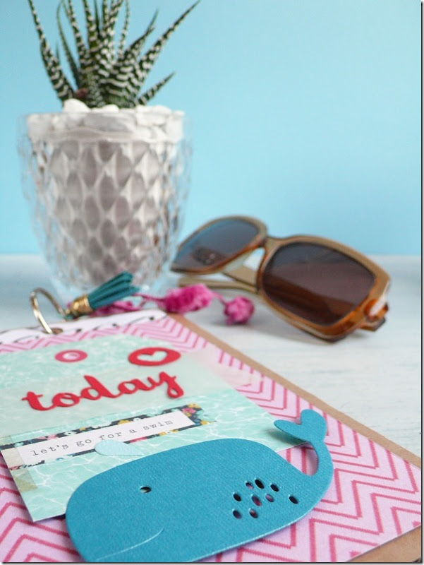 Mini Album per l'estate con Big Shot e Fustelle Sizzix Under the Sea