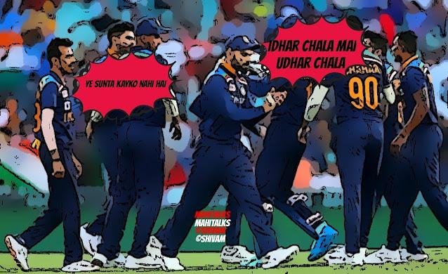Bleed blue, Australia vs India, washington sundar, shreyas iyyar, yuzi chahal, deepak chahar, ravindra jadeja, comics image