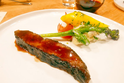 Willow PDX Portland Dining Month menu 2016 - second course of short rib steak with glazed vegetables, porato puree, and sauce bordelaise
