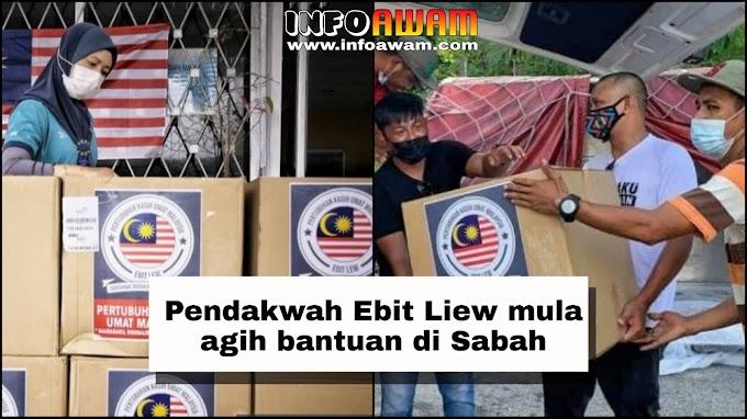 Pendakwah Ebit Liew mula agih bantuan di Sabah