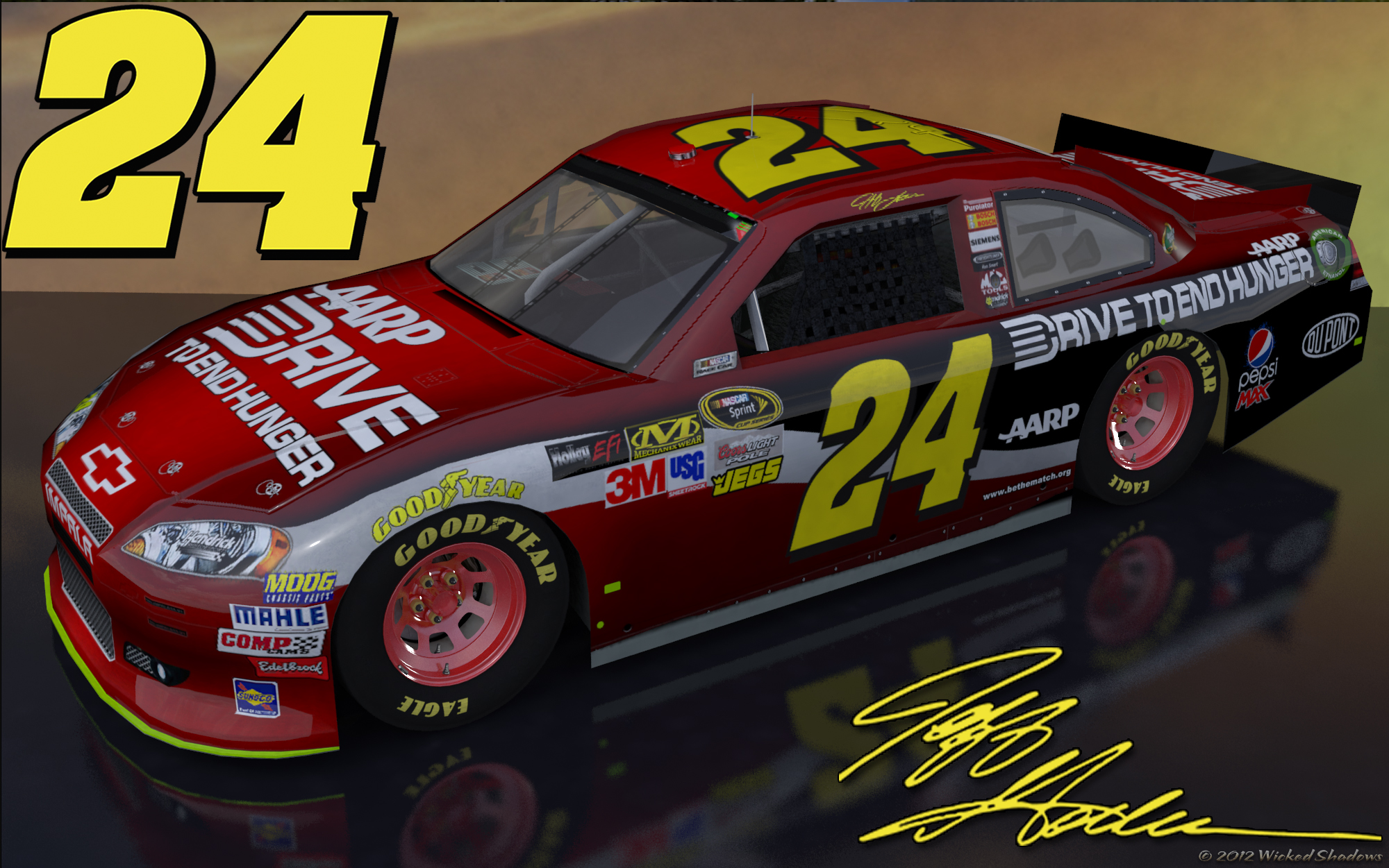 Jeff Gordon Drive To End Hunger Outdoor Wallpaper