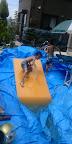 夏休みの想い出〜お庭に自作のウォータ滑り台を作って遊びました♪〜