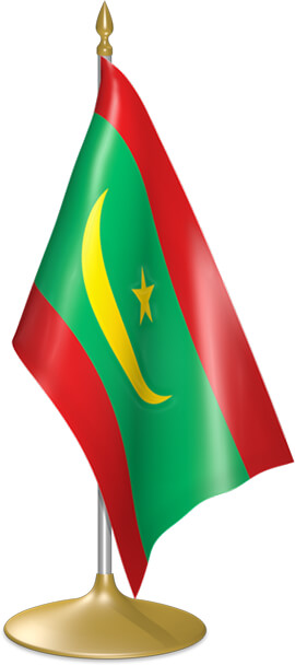 Mauritanian table flags - desk flags
