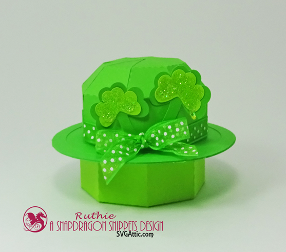 Leprechaun mini bowler hat box, SnapDragon Snippets, Ruthie Lopez. 3