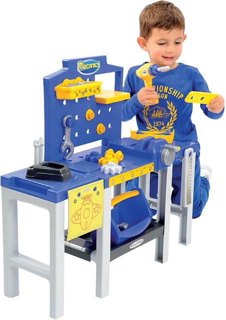 Bàn dụng cụ kỹ sư Ecoiffier 2450 Modular Workbench an toàn cho bé