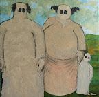 216 - Sandy Son - 2008 91 x 62 - Acrylique, sable, aquarelle et or sur toile