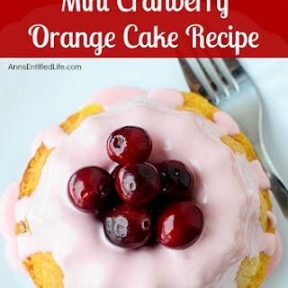 Mini Cranberry Orange Cake.