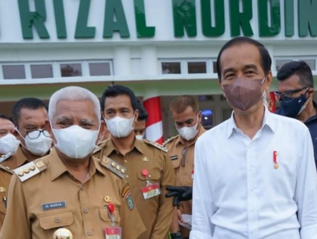 Hadir Di Rumah Dinas Gubernur Sumatera Utara, Bupati Asahan Bertemu Presiden Jokowi