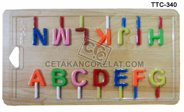 cetakan coklat cokelat Huruf Abjad Alfabet TTC340