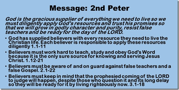 Message 2nd Peter
