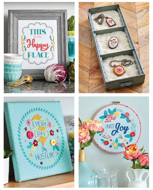 Embroidery projects from the book Retro Stitchery by Beverly McCullough