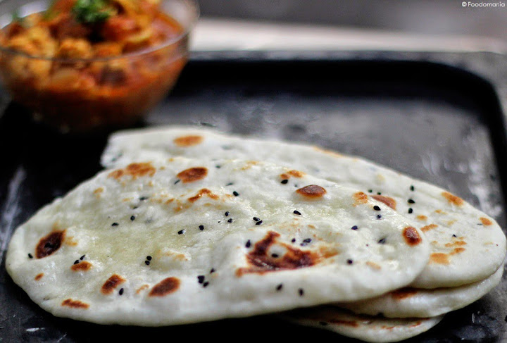Naan Bread Recipe | How to make Authentic Naan at Home on a stove top | Foodomania.com | Step by Step Recipe