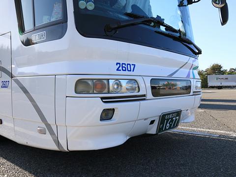 名鉄バス「名古屋~新潟線」 2607 前面