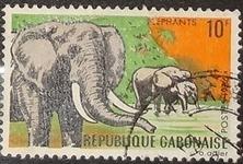 timbre Gabon 001