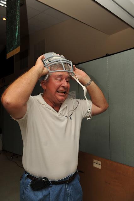 Ed Wagner, winner of Banaszak helmet