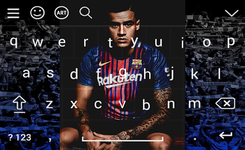 Keyboard Philippe Coutinho FCB 2018 - náhled