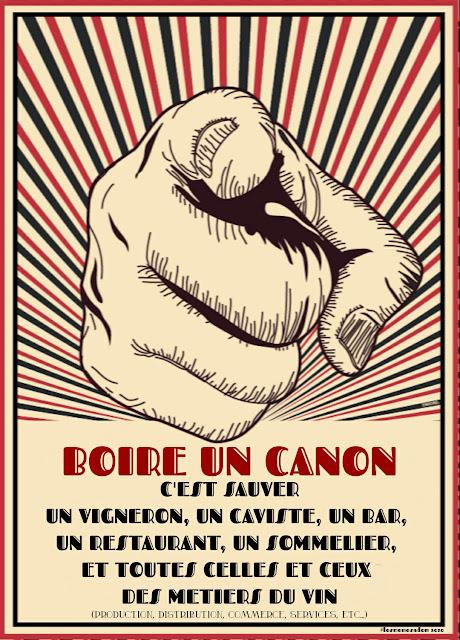 """""""BOIRE UN CANON, C'EST SAUVER UN VIGNERON"""" revisité par @ledomduvin"""