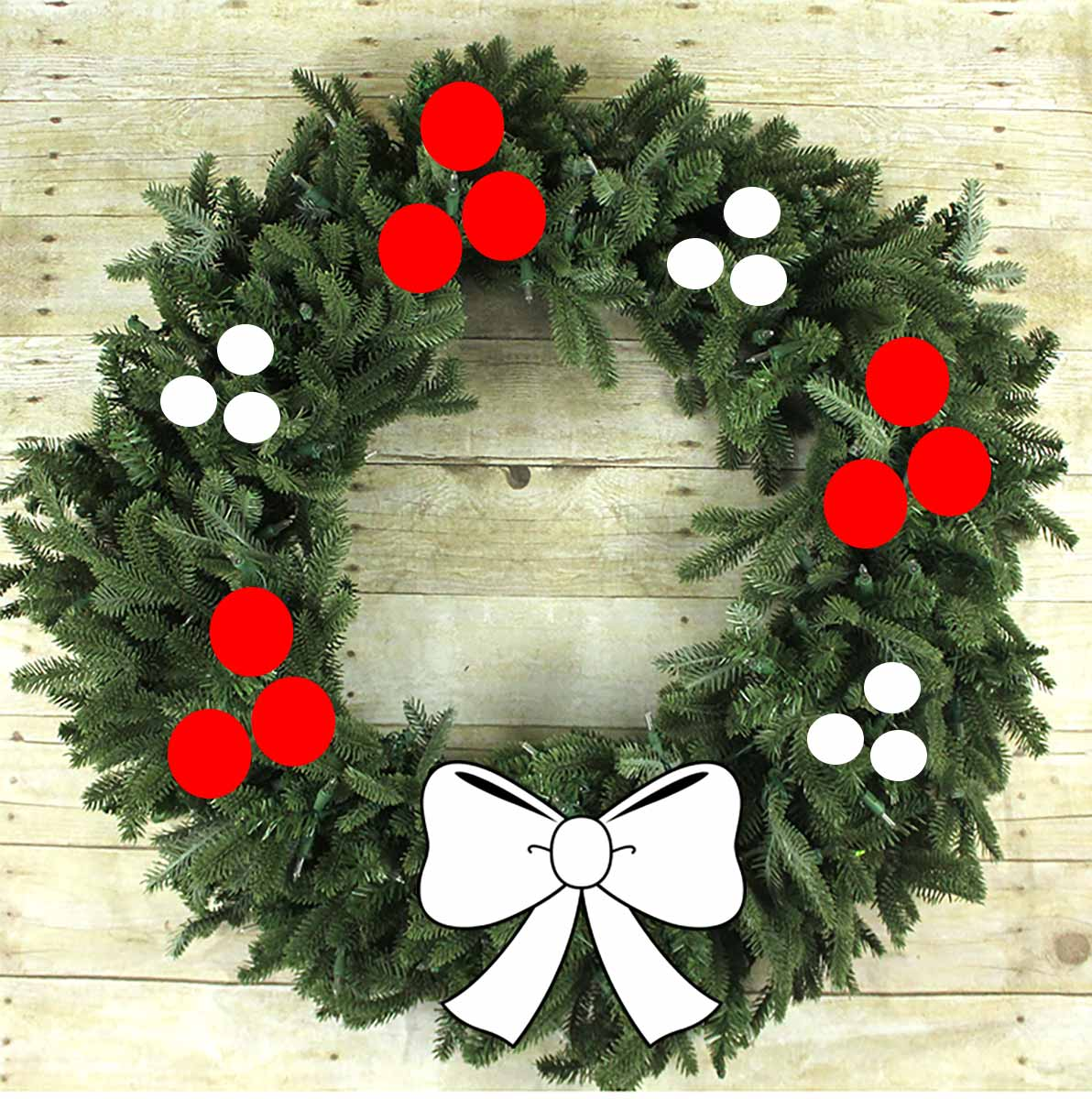 Simple wreath styling 2