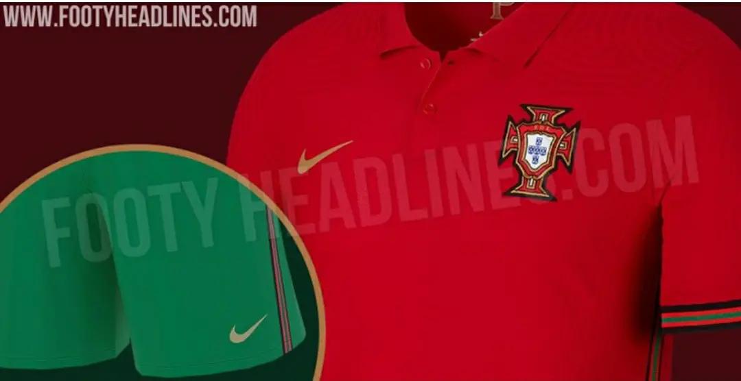 GAMBAR DESAIN terbaru Bocoran Jersey Portugal Euro 2020-2021 Home dan Away