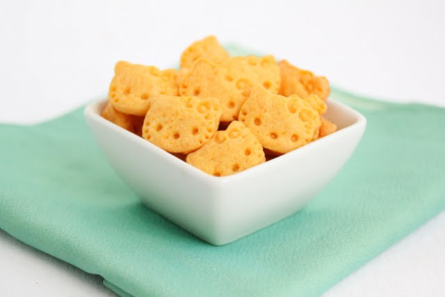 photo of a bowl of Hello Kitty Cheddar Crackers