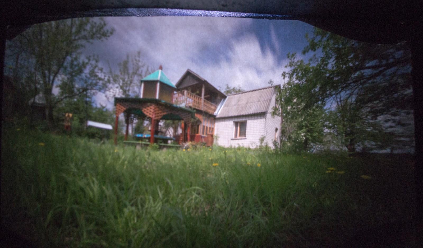 Обскура, пейзаж, сад, будинок, альтанка