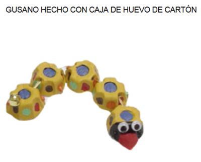 GUSANO CAJA HUEVO