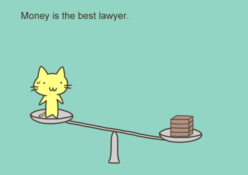 Money is the best lawyer
