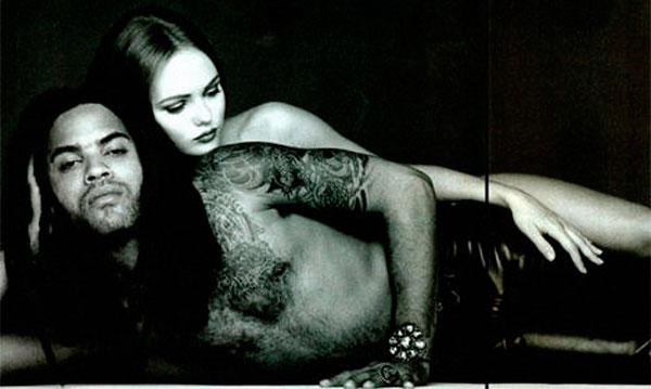 Lenny Kravitz y Vanessa Paradis