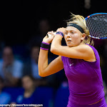 STUTTGART, GERMANY - APRIL 17 : Carina Witthöft in action at the 2016 Porsche Tennis Grand Prix