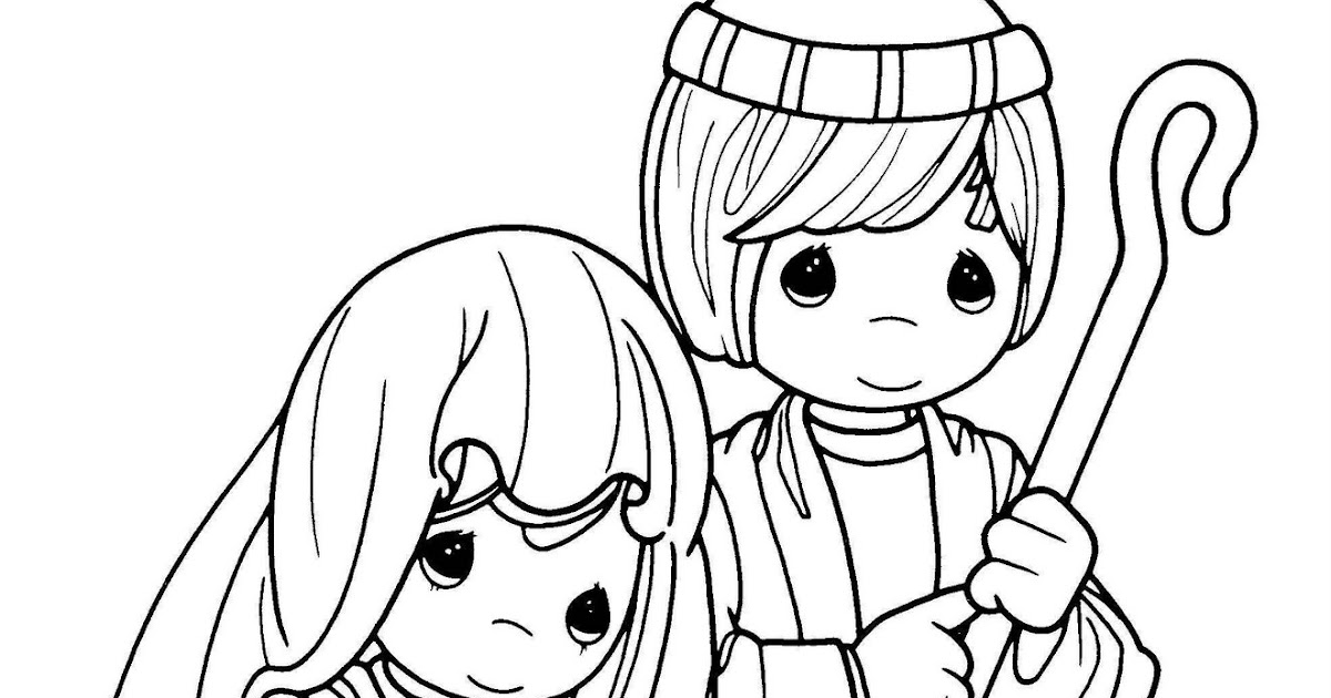 mary joseph coloring pages | mary and joseph - precious moments coloring pages ...