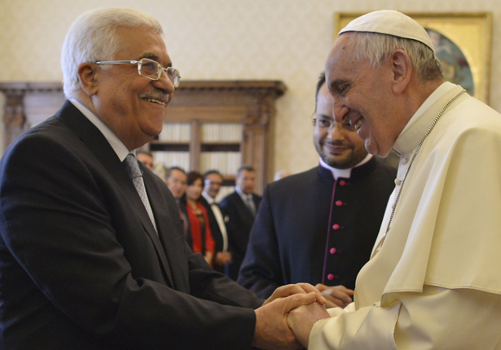 Pope Francis did not call Palestinian leader 'angel of peace'