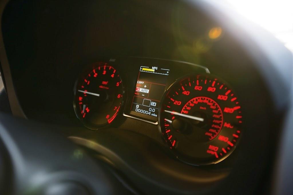 2015 Subaru WRX STI Launch Edition speedometer