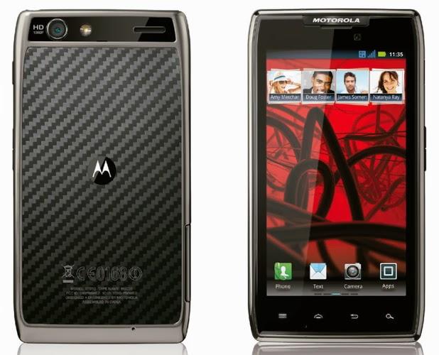 Panduan terlengkap mengenai harga handphone dan smartphone Motorola RAZR Daftar Harga HP Smartphone Motorola RAZR-Defy-Fire Terbaru