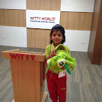 Jr. KG celebrated Show and Tell activity at Witty World