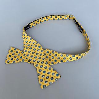 Hermès Silk Hippopotamus Bow Tie