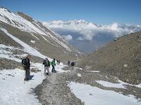 The decent to Muktinath