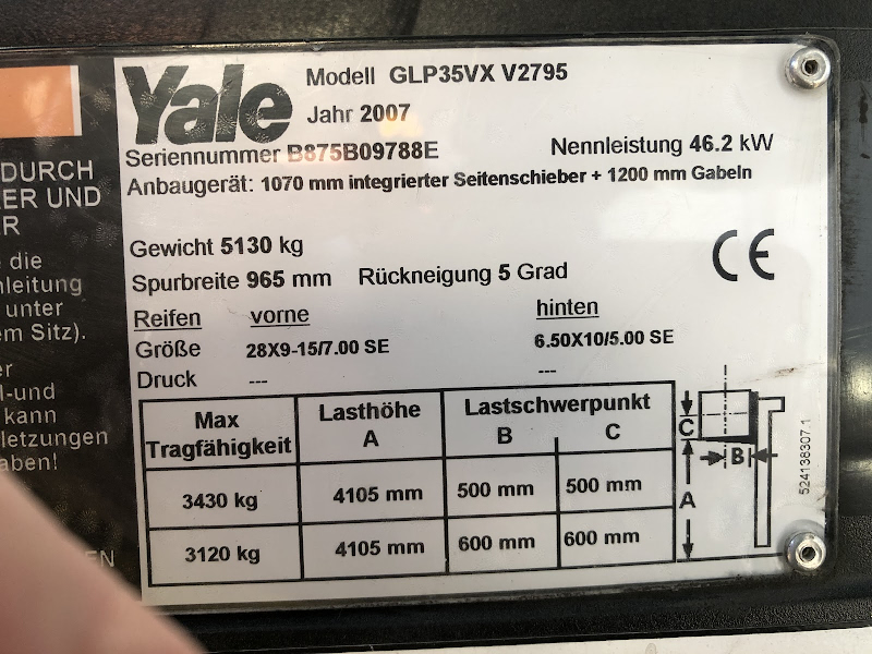 Picture of a YALE GLP35VX