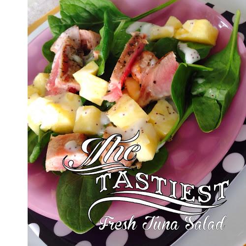 Grilled tuna, seared tuna, leftover grilled tuna salad