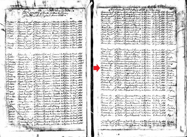 CRITCHFIELD_William_birth record_13 Oct 1686_Massachusetts_annotated