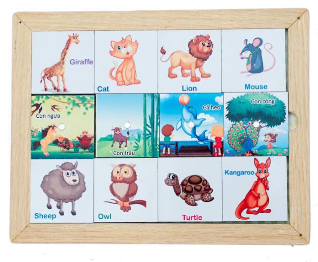 Bộ nhận biết thế giới động vật E02.11 giúp bé làm quen sớm hơn với các loài động vật trong tự nhiên